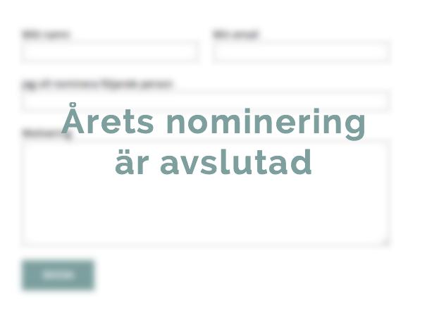 årets nominering avslutad